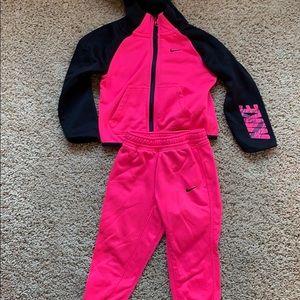Nike hot pink toddler suit.